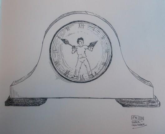 Clock- Inktober2018 FV