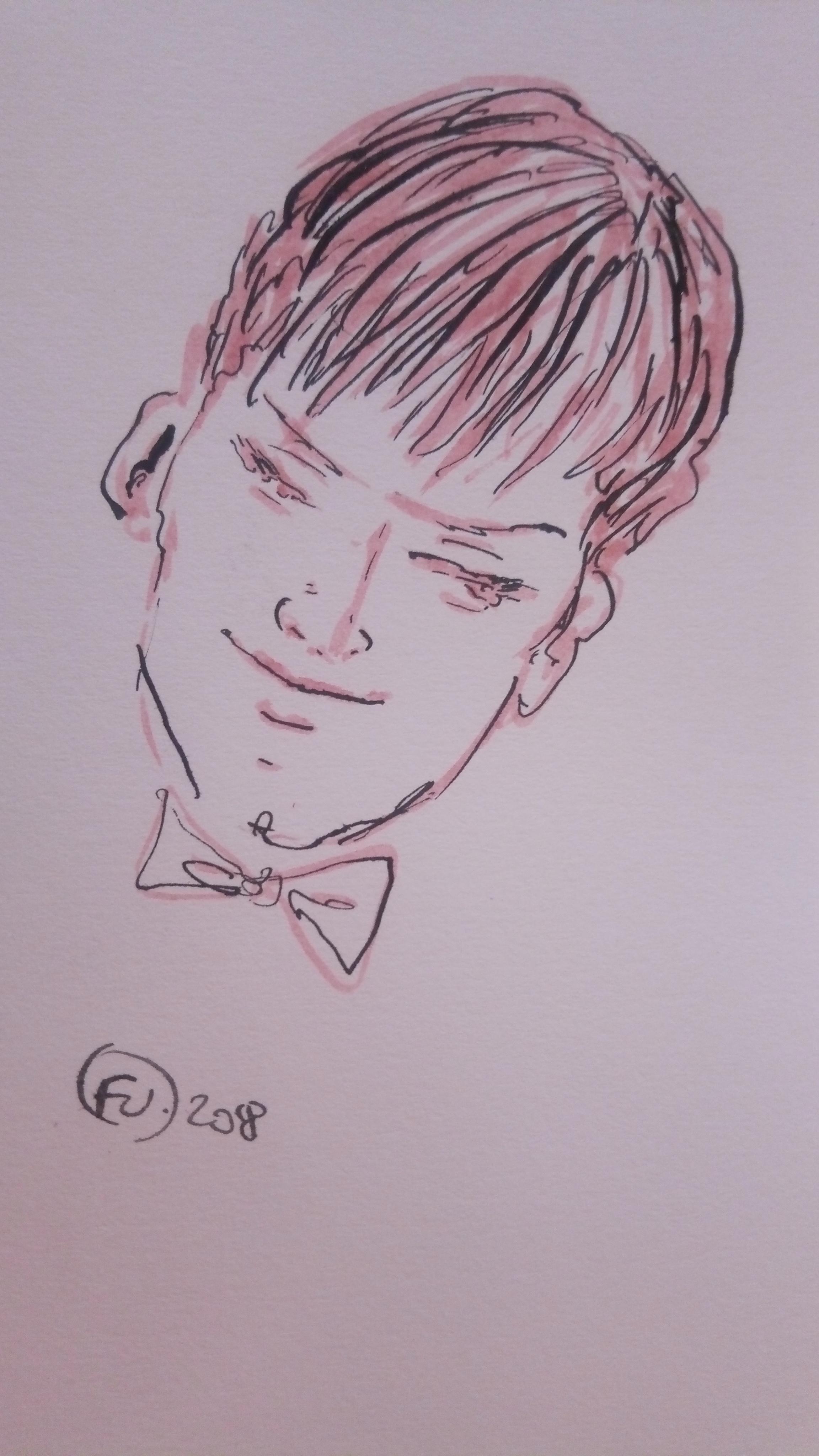 Sketch head of man FV